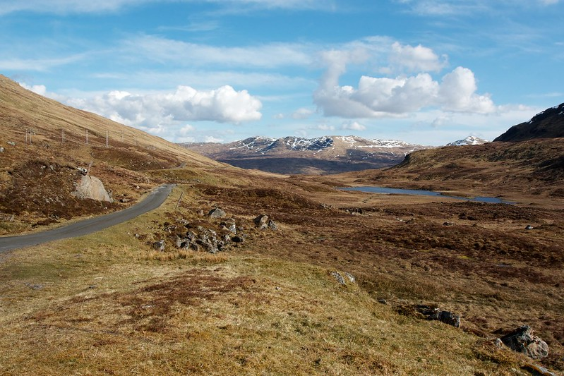 The road to Glen Lochay
