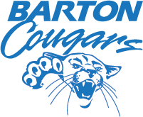 Mascot Logo vertical thumbnail - blue