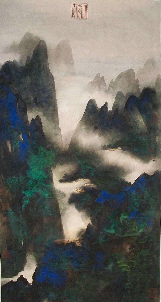 an analysis of the painting panorama of mount lu by zhang daqian