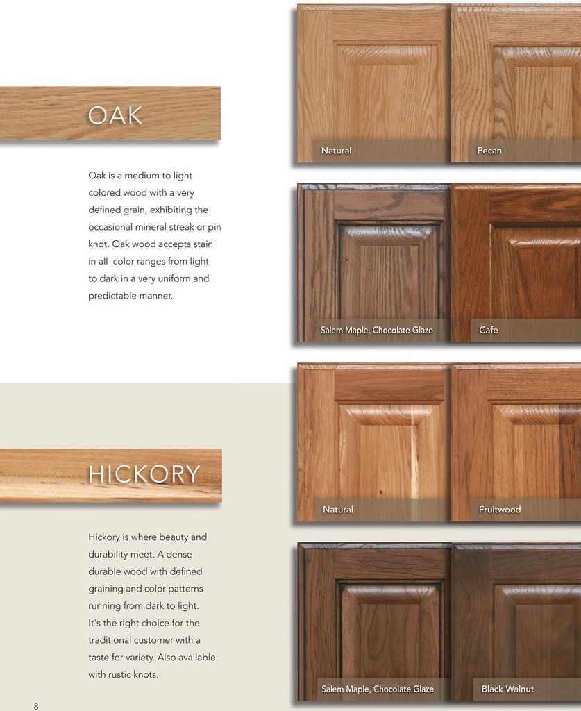 Dark And Light Kitchen Cabinets Together: Oak Hickory Kitchen Cabinets In Phoenix