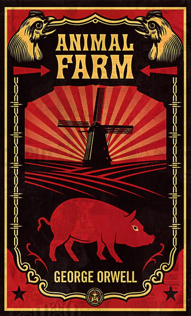 animal farm george orwell Animal farm (1945) is a satirical novella (which can also be understood as a modern fable or allegory) by george orwell, ostensibly about a group of animals who oust the humans from the farm on which they live they run the farm themselves, only to have it degenerate into a brutal tyranny of its own.