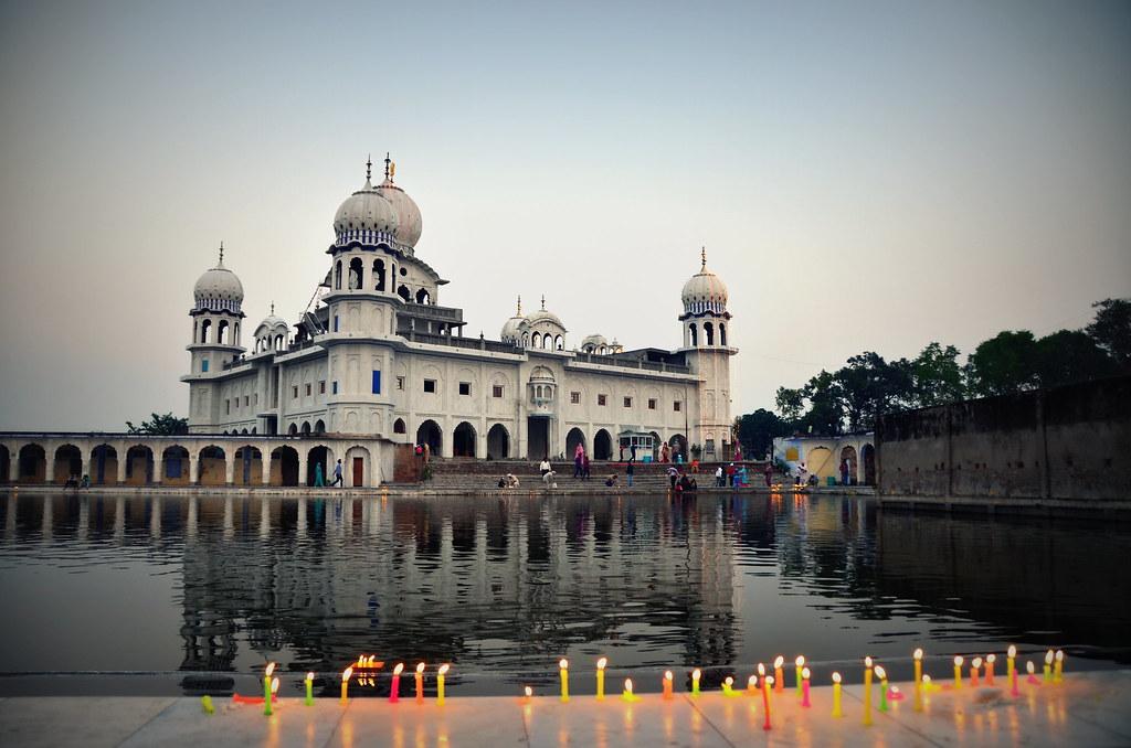 Gurudwara Sri Panjkhora Sahib Ambala India Candles Lit