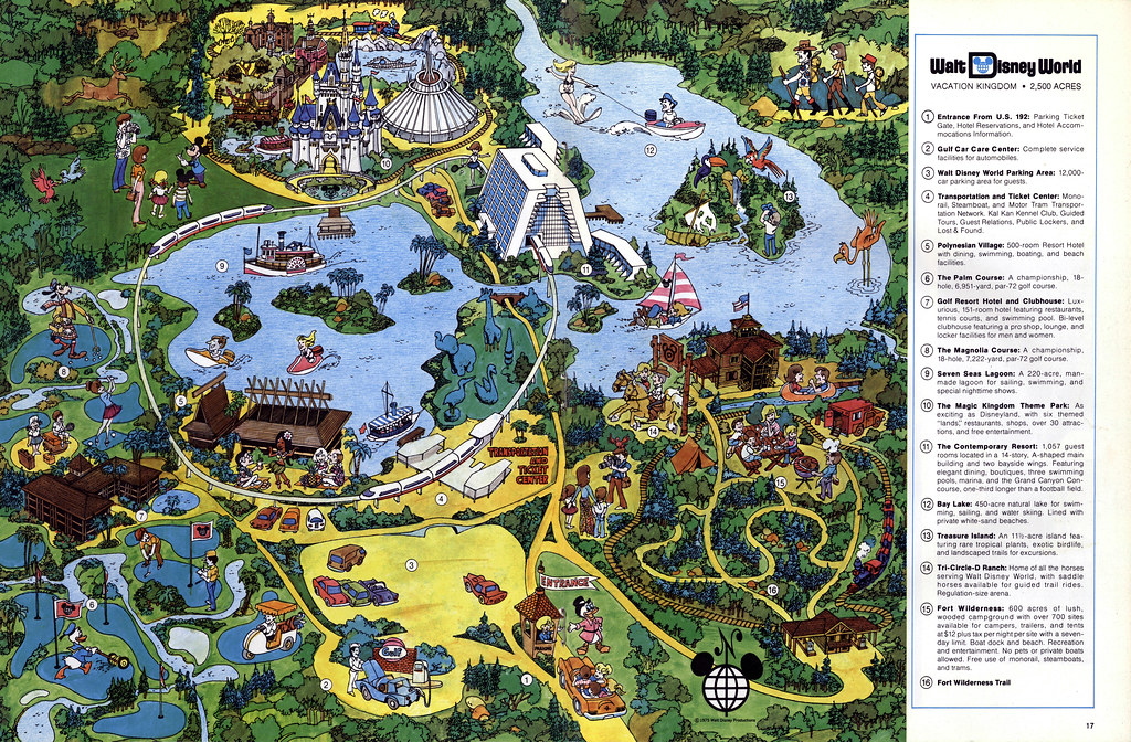 WDW Vacationland Spring 1975 10   Walt Disney World Map | Flickr