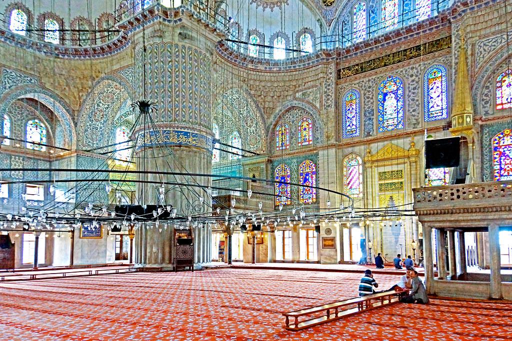 Turkey 03259 Interior Of The Blue Mosque Please No