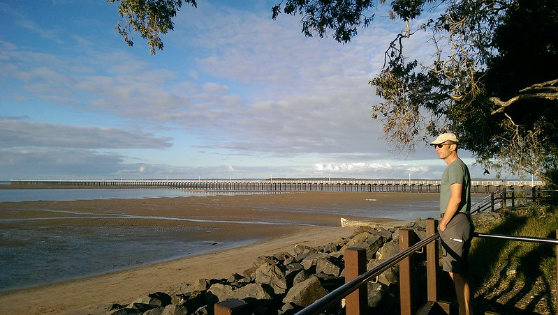 Overlooking the wharf at Hervey Bay