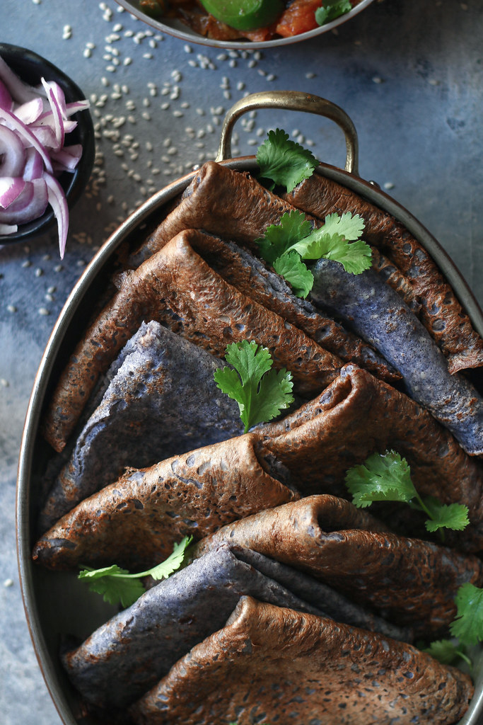Black Bean Dosa/Crepe- Easy and Instant |foodfashionparty| #indianfood