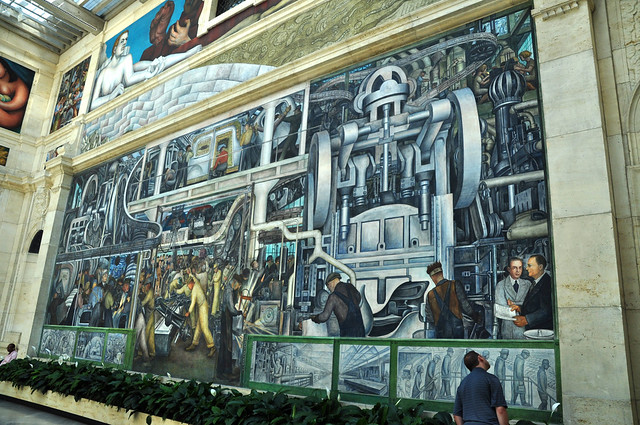 Detroit industry murals by diego rivera at detroit for Detroit rivera mural