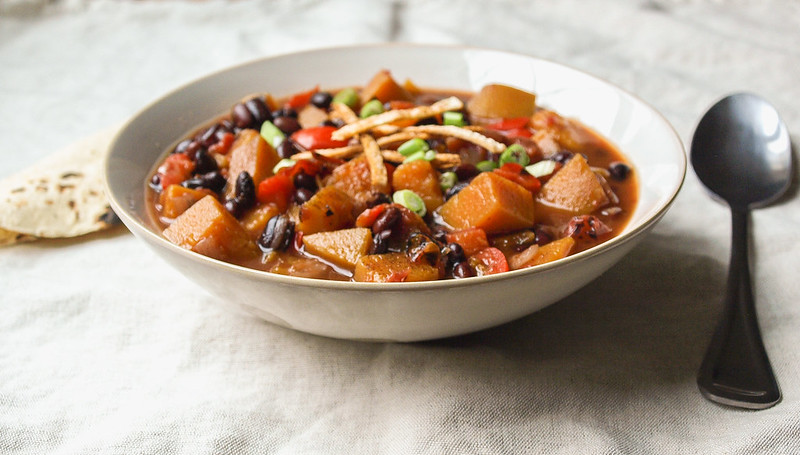 Butternut Squash and Black Bean Chili