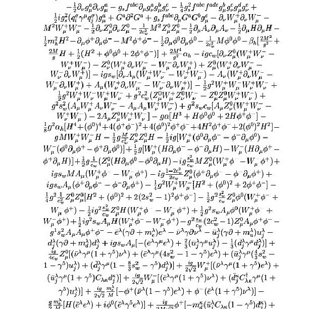 The Standard Model of Particle Physics. This one equation …   Flickr