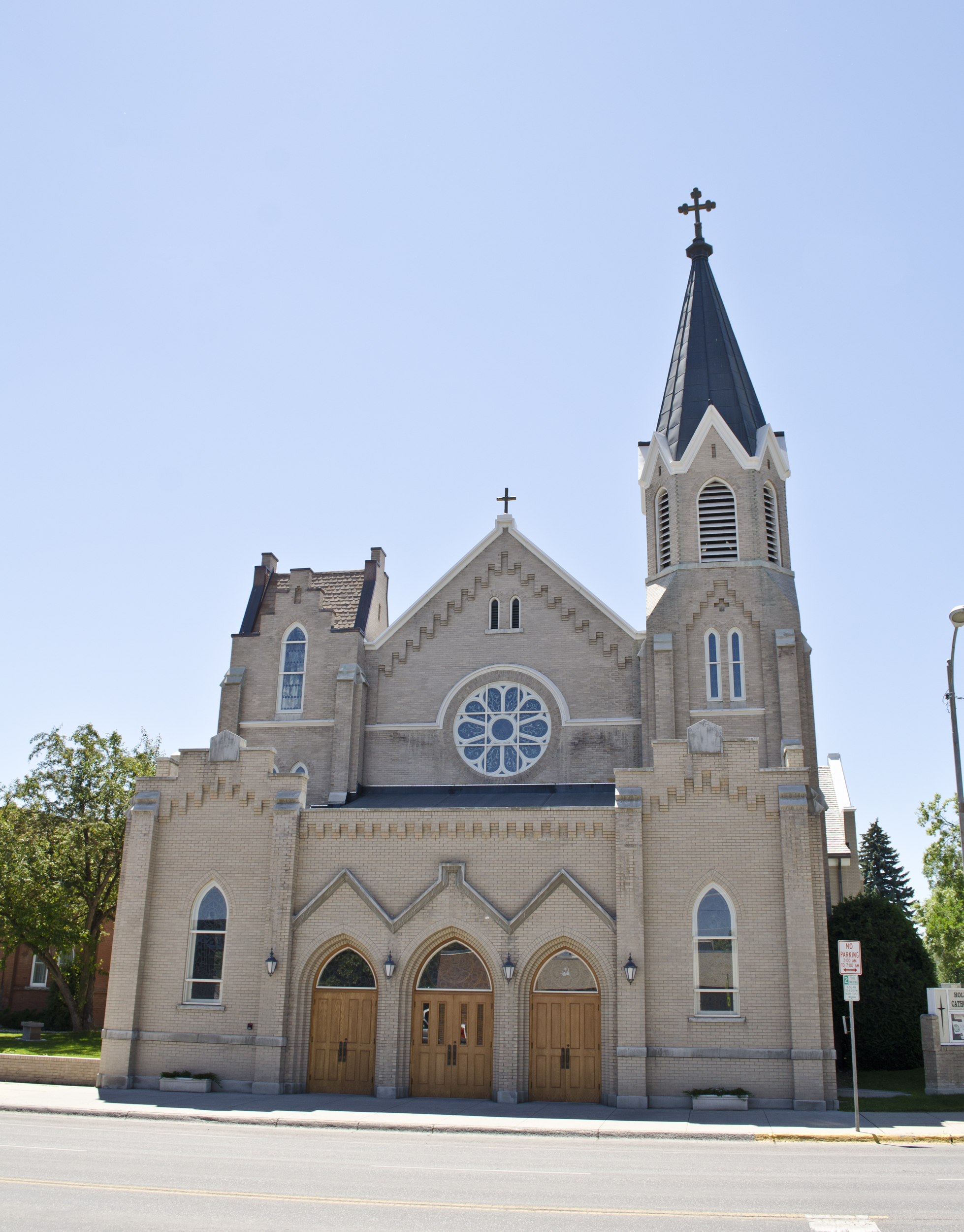 looking S at Holy Rosary Church - Bozeman Montana - 2013-070-09