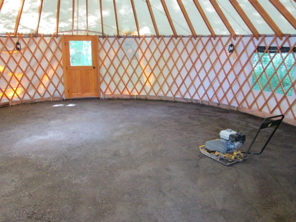 Earthen Floor For Yurt Vermont Natural Homes Flickr