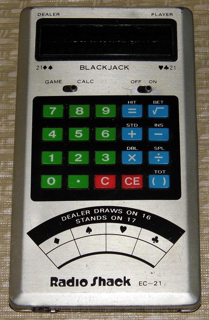 handheld blackjack game