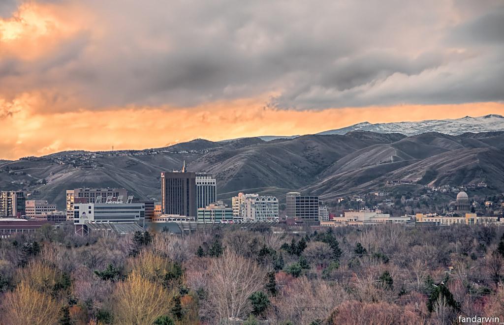 Boise Skyline Spring Darwin Fan Flickr