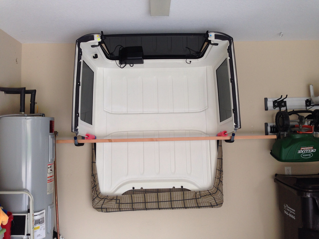 jeep jk hard top storage rack an easy way to store your. Black Bedroom Furniture Sets. Home Design Ideas