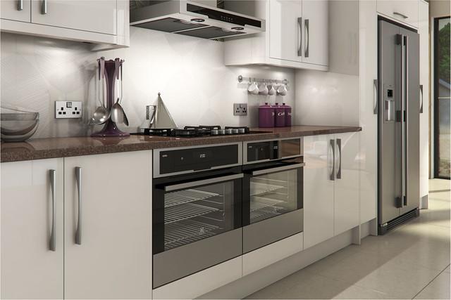 Livorna white gloss kitchen a livorna white high gloss for Kitchen designs gloss