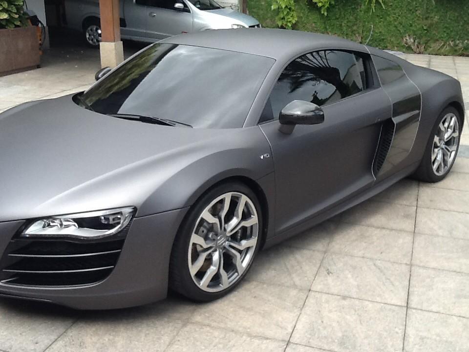 Audi R8 Envelopamento Charcoal Matte Met 225 Lico Avery By En