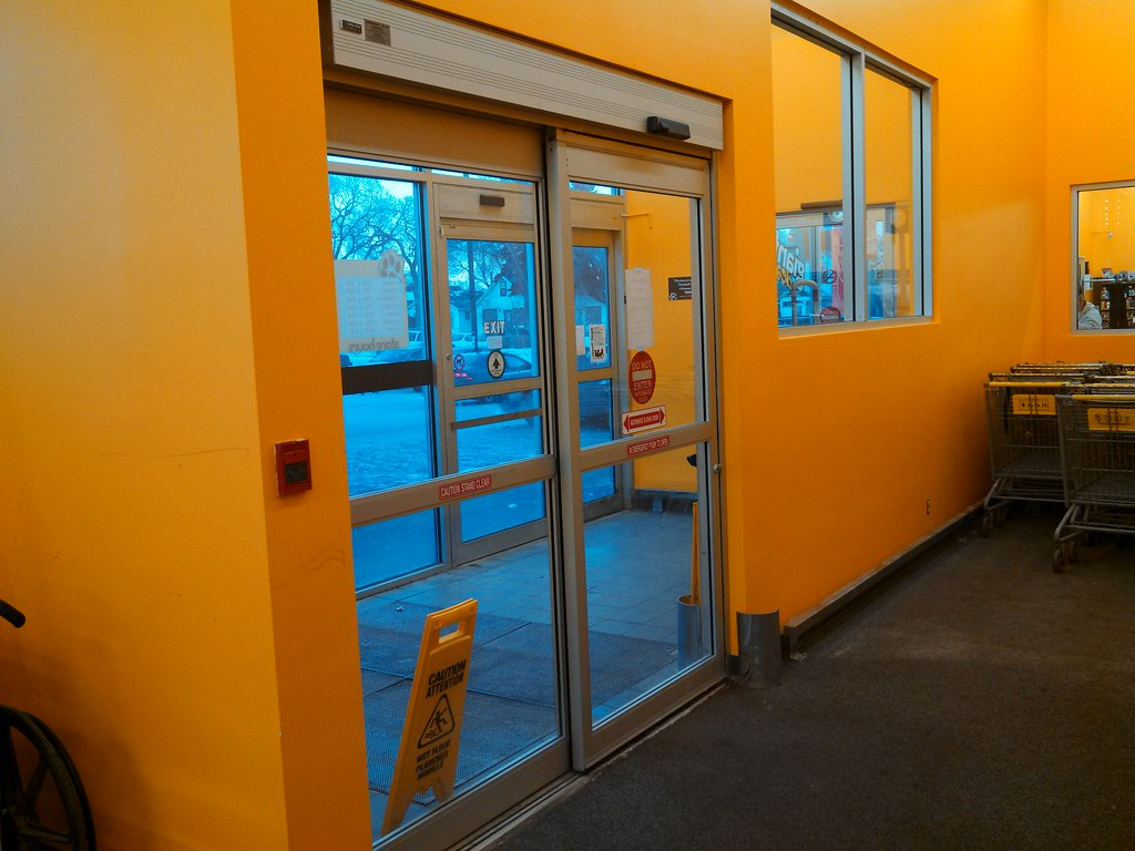 Gyro tech door with besam decal giant tiger on nd