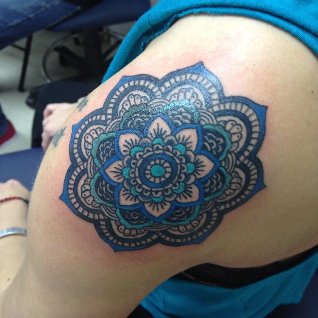 Mandala And Flower Tattoo: Mandala Flower Traditional Tattoo By KeelHauled Mike Of Bl
