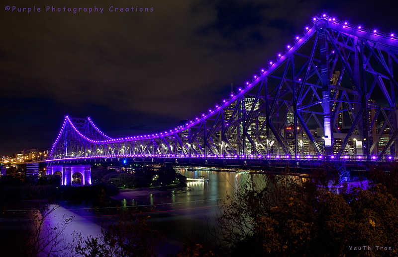 Purple Story Bridge Tran Brisbane Story Bridge