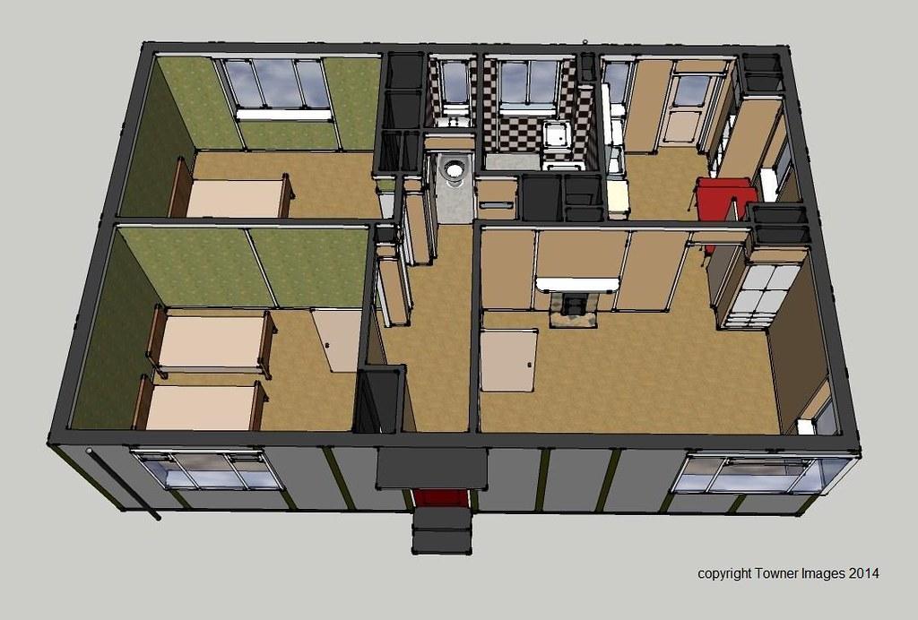 Typical prefab Floor Plan amp Front Elevation