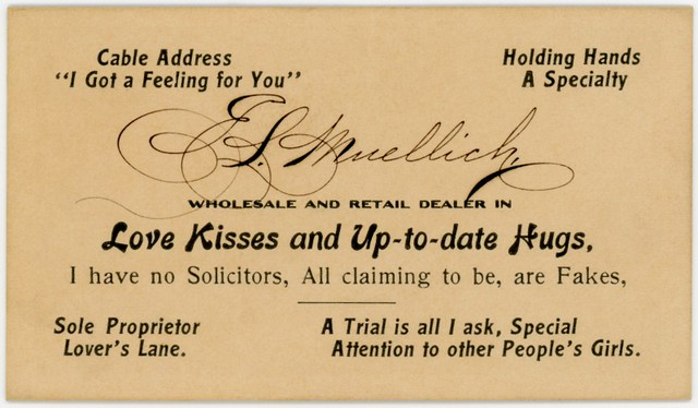 E. L. Muellich, Dealer in Love, Kisses, and Up-to-Date Hugs