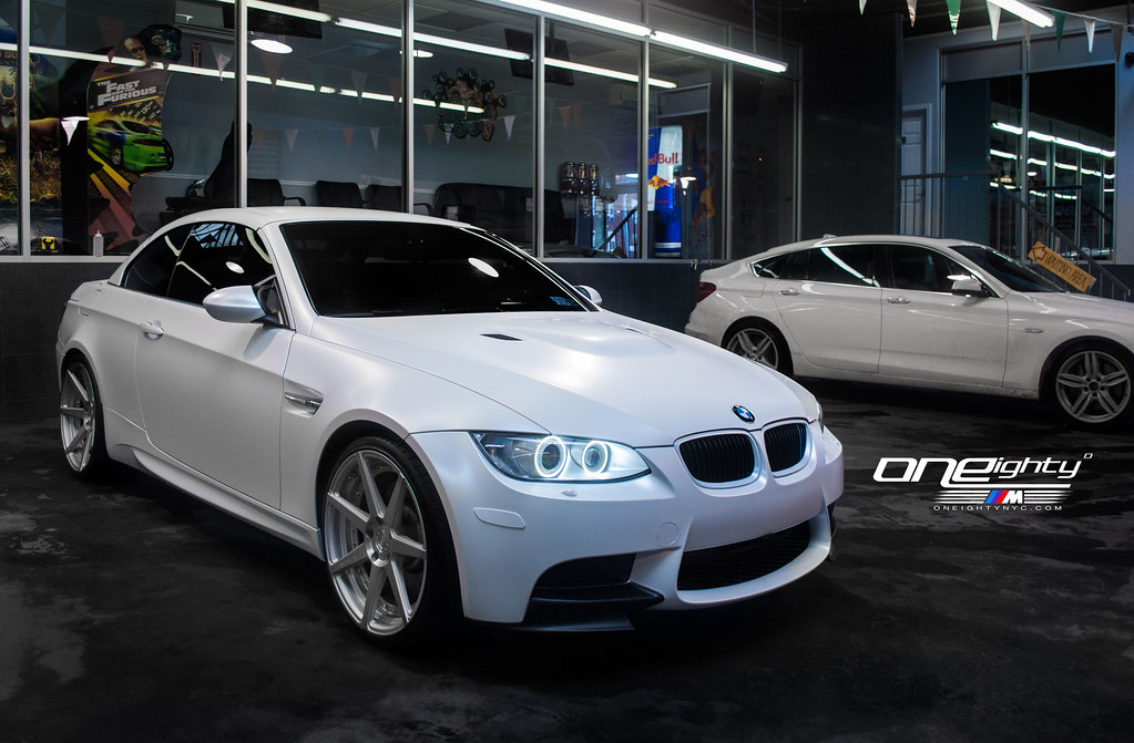 BMW E93 M3 - Satin Pearl White by ONEighty | 2013 BMW M3 ...