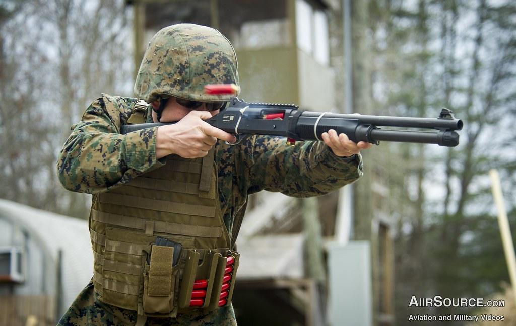 usmc shotgun blast us marine corps sgt john browning