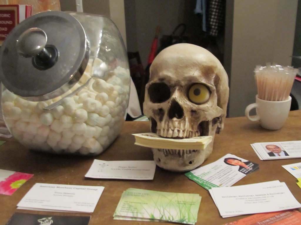 Skull business card holder at a chinese restaurant flickr magicingreecefo Choice Image