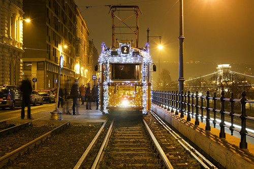 #Flickr12Days Christmas tram in Budapest 13
