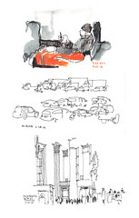 URBAN SKETCHERS SKETCH EXCHANGE_2014 by carolhsiung