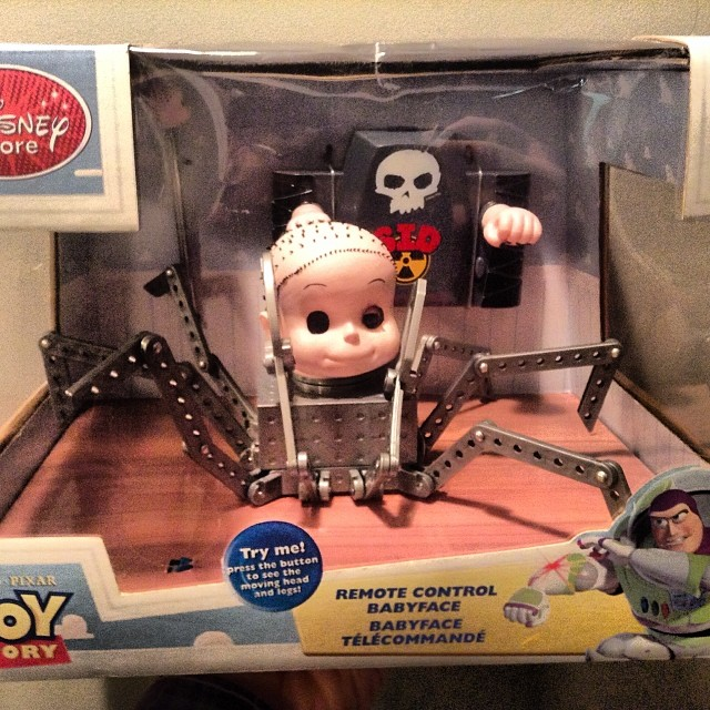 Baby Face RC Vehicle Mint In Package Disney Store Exclusi