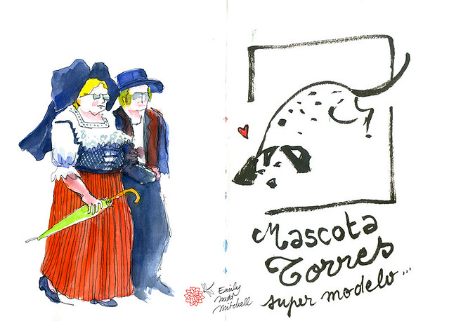 Strasbourg, des Alsaciens ! Et la mascotte de la famille Torres, Urban Sketchers dans toute l'Europe :)