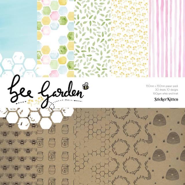 StickerKitten Bee Garden paper pack