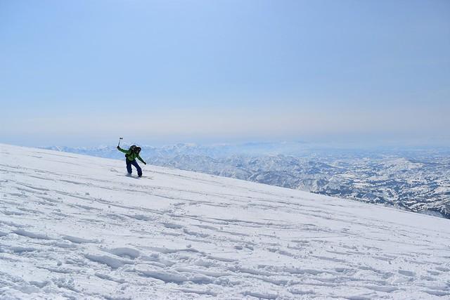 冬の守門岳 バックカントリー