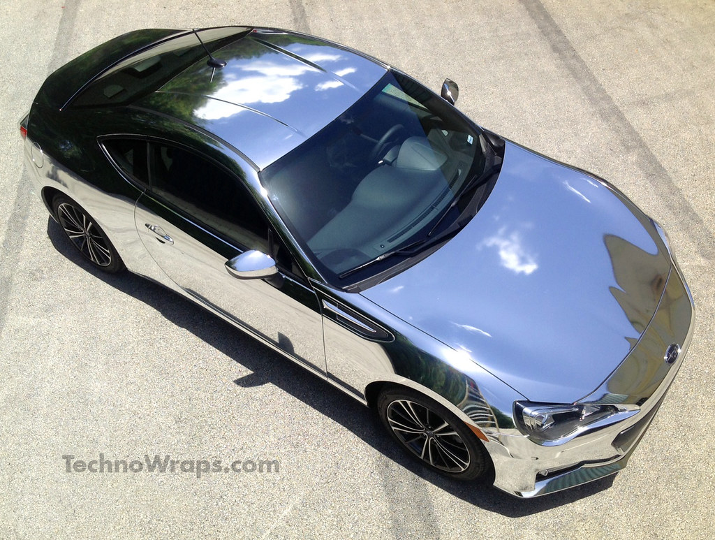 Chrome Car Wrap >> Chrome BRZ color change wrap | Chrome car wrap done in ...