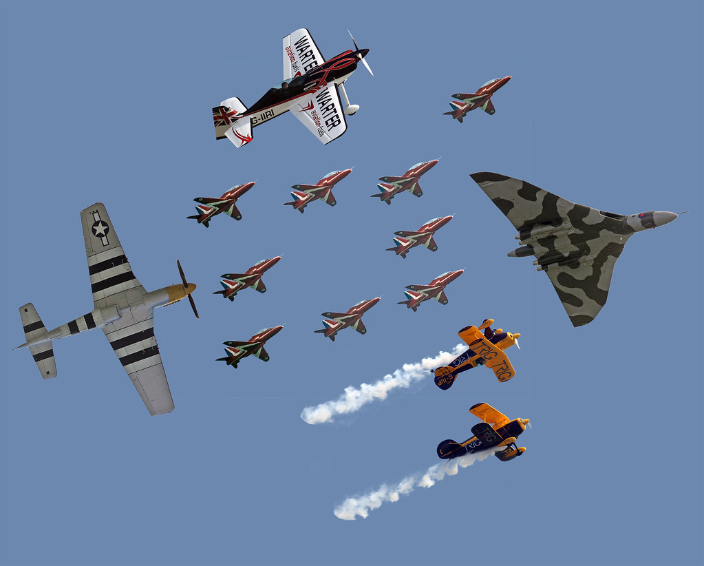 Clacton Air Show 2013 Montage In The Centre Royal Air