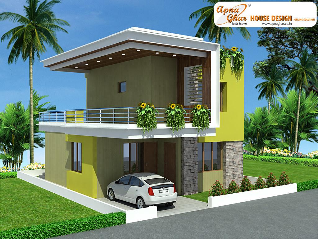 Duplex house design beautiful duplex house design in for Small duplex house designs and pictures