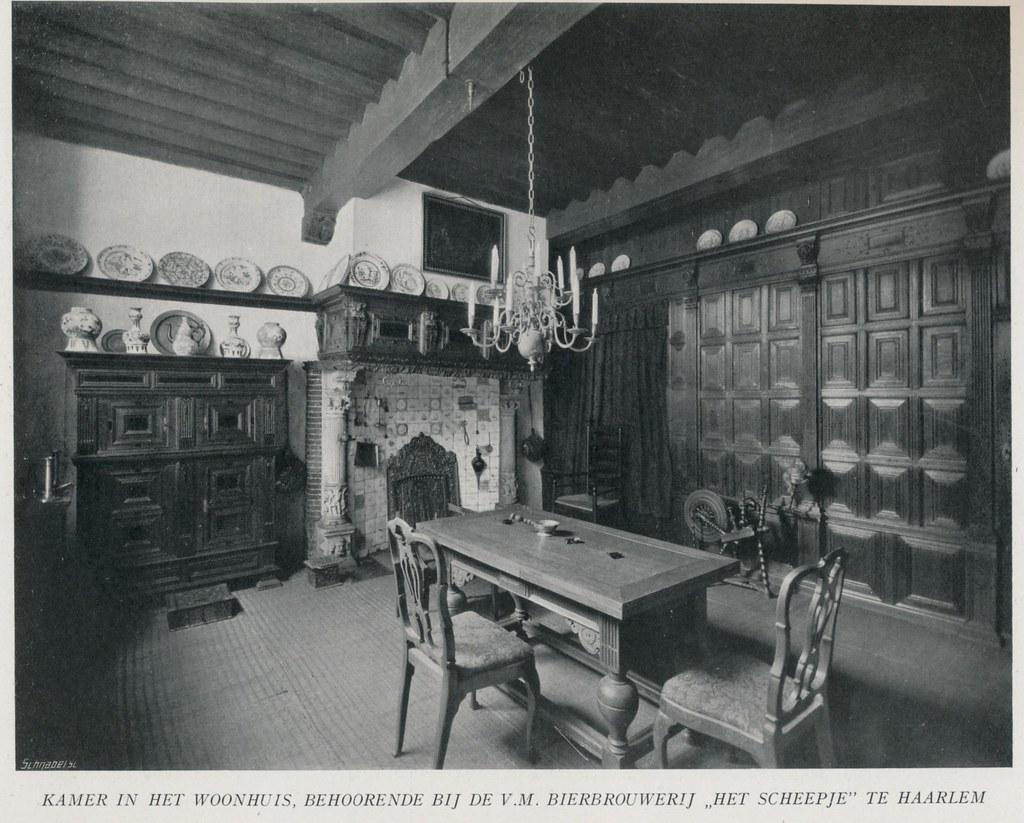 Haarlem 17e eeuws interieur 1910 1920 afbeeldingen uit for Interieur 1920