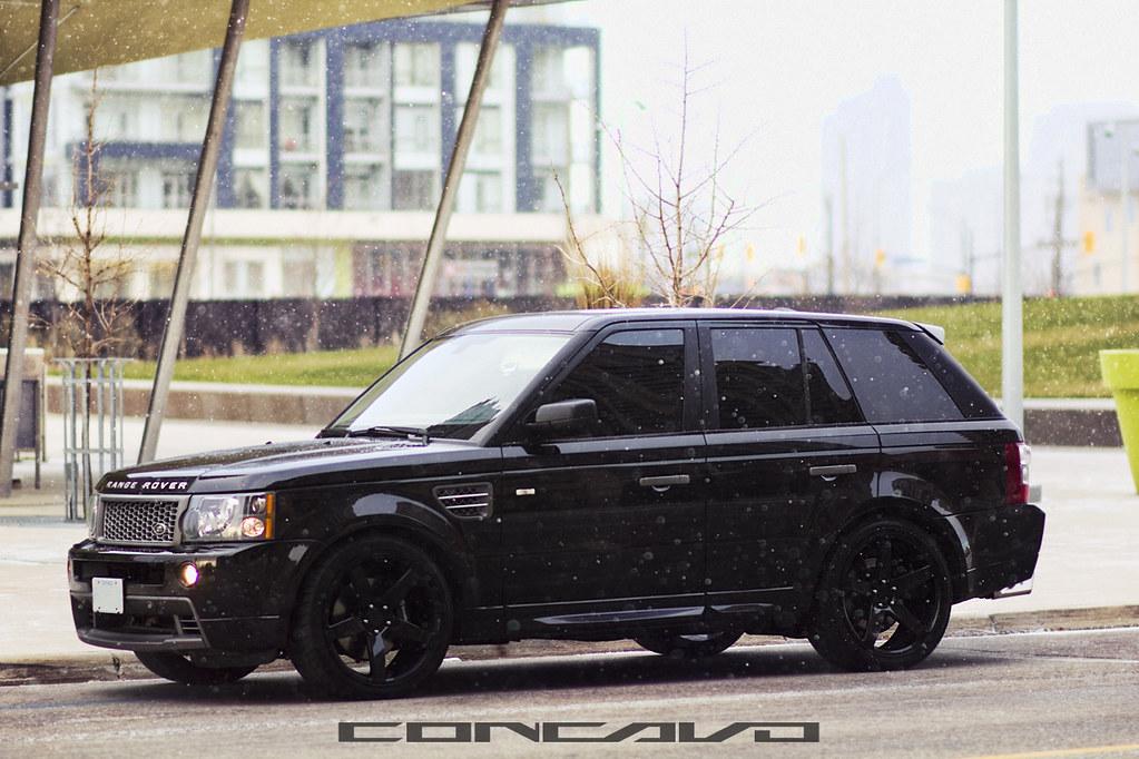 Range Rover Sport On Gloss Black 22x10 5 Cw 5 Www