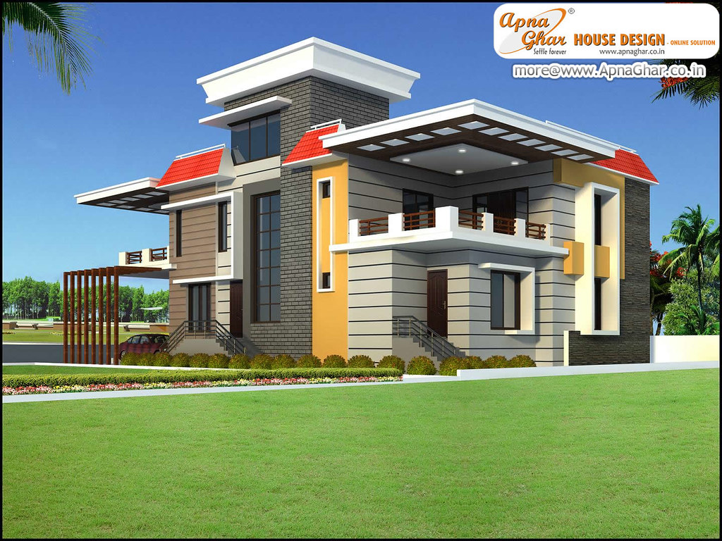 Apnaghar House Design: Apna Ghar House Design In 3d View