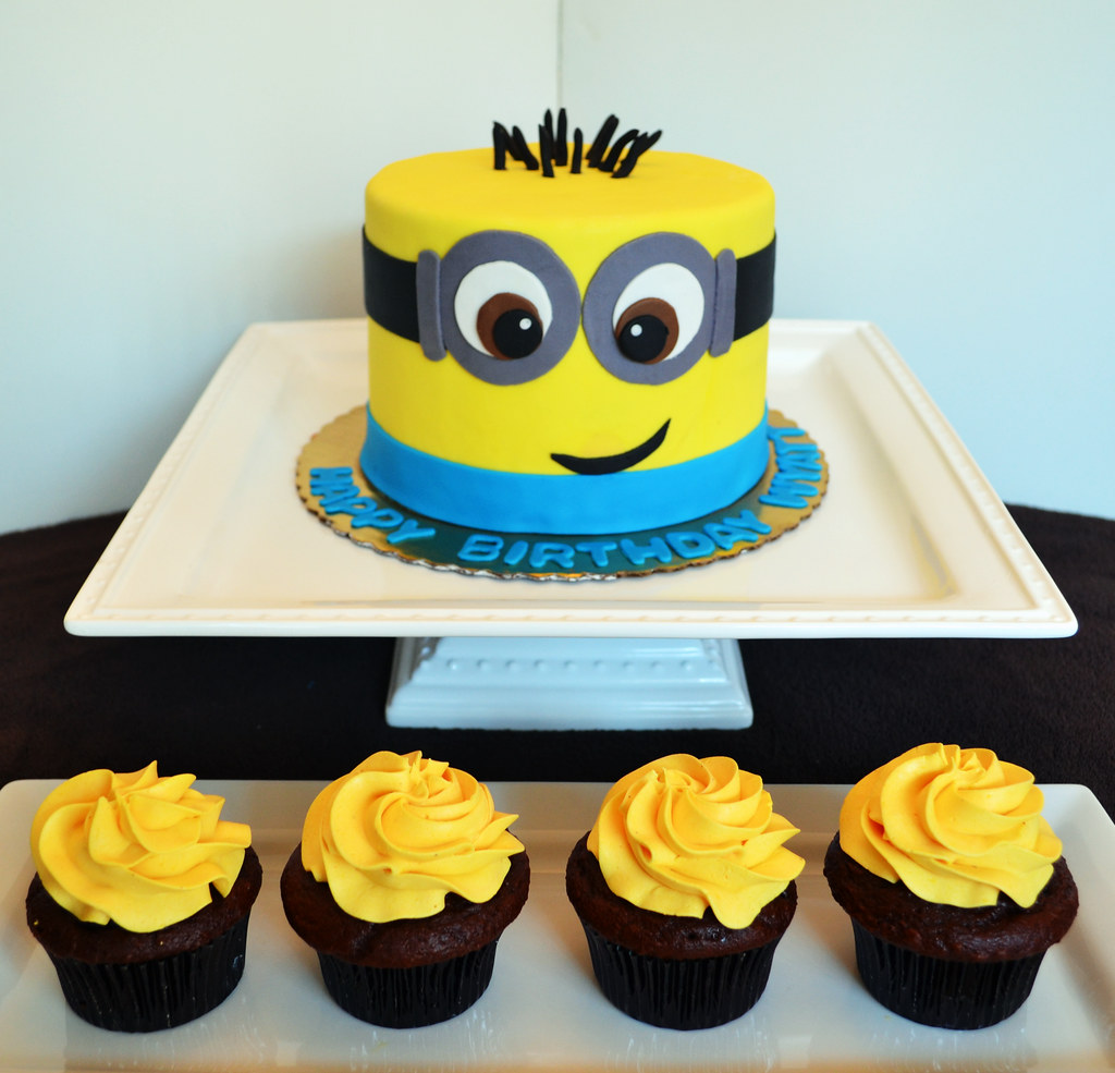 minion cake walmart minion cake and cupcakes simply sweet creations flickr 5934