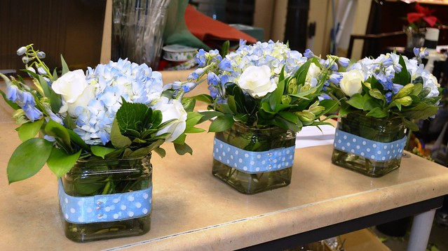 Simple blue centerpieces flickr photo sharing