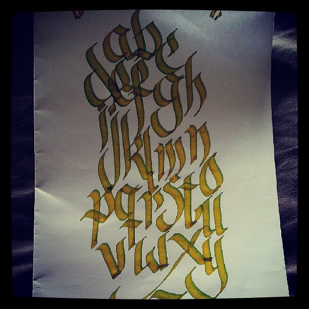 The alphabet... #calligraphy #calligraffiti #test #writing… | Flickr