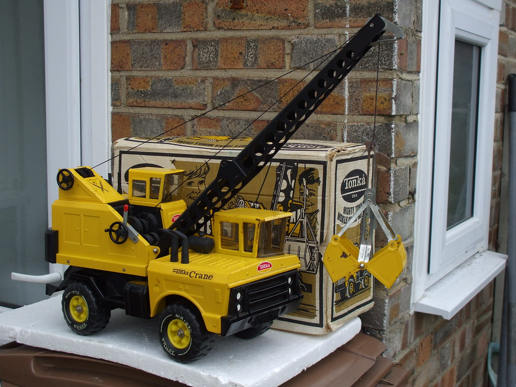 Toy Cranes For Boys : Vintage tonka toys mobile crane made in the usa bought tod