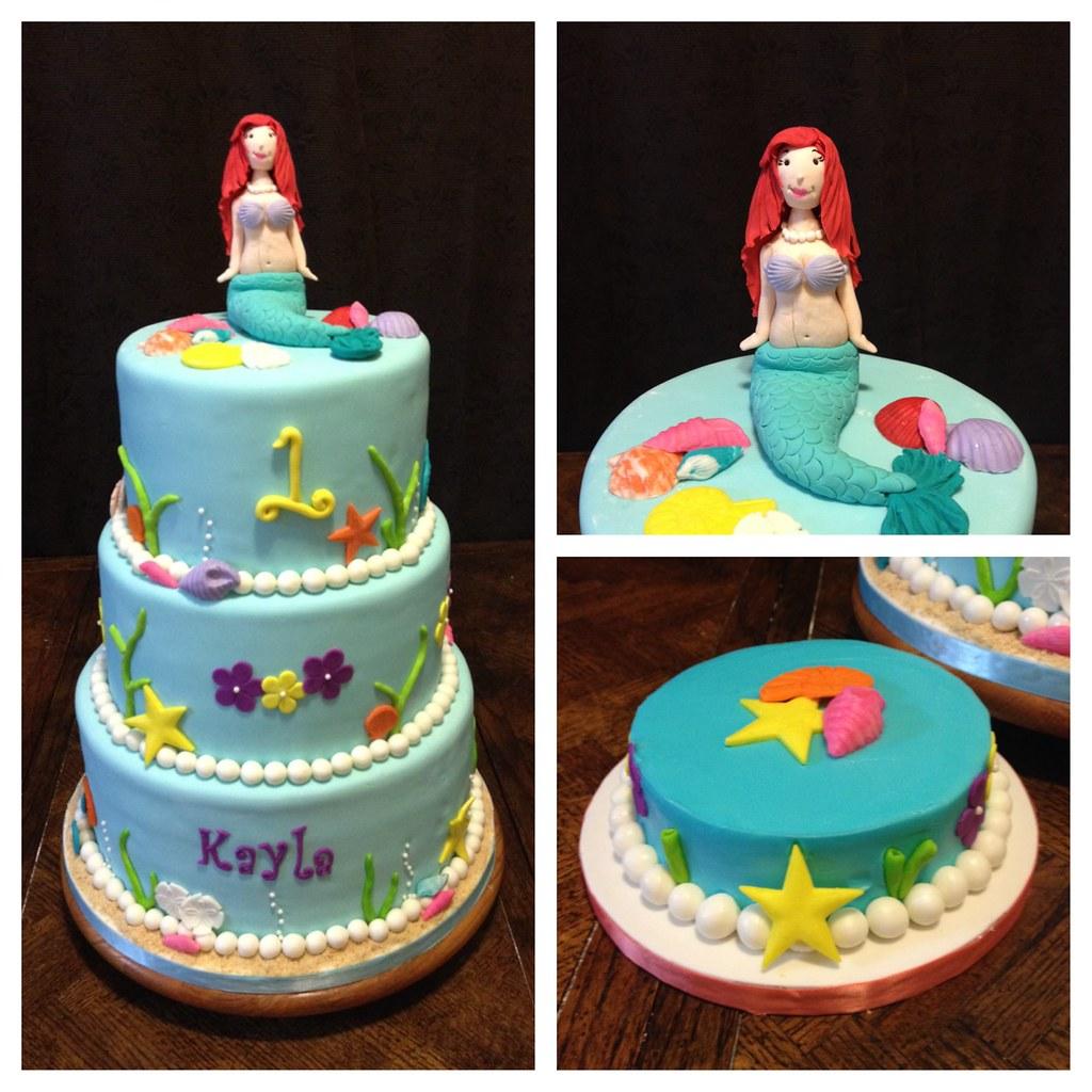 Little Mermaid 1st Birthday Cake The Little Mermaid 1st