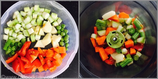 Mixed Vegetable Soup for Babies - step 1