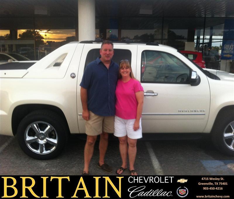 Jones Cadillac: Thank You To John Jones On The 2013 Chevrolet Avalanche Fr…