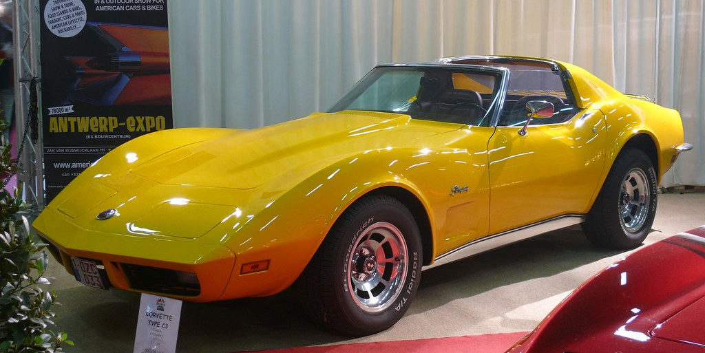 Chevrolet Corvette Stingray Targa C3 1973 Yellow Vl Flickr