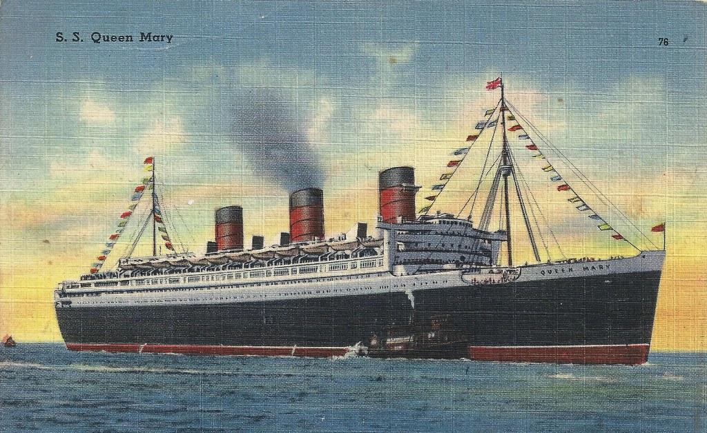 Cunard White Star Line Queen Mary Cruise Ship