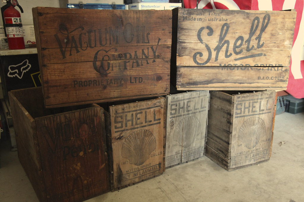 old oil crates just started my collection scott schrapel flickr